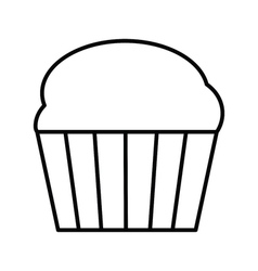 Cupcake outline icon vector image