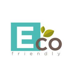eco friendly symbol vector image vector image