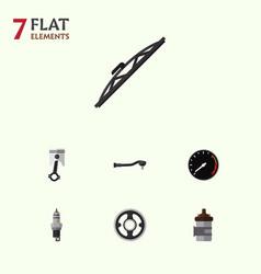 Flat auto set of belt absorber tachometr and vector