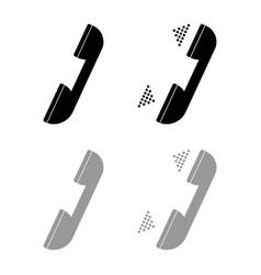 handset set black and grey color vector image vector image