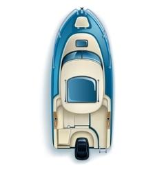 lightweight single-engine boat vector image vector image