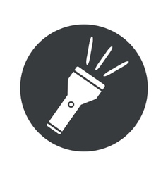 Monochrome round flashlight icon vector image