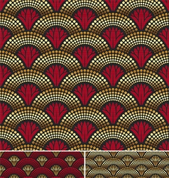 seamless decorative golden pattern vector image vector image