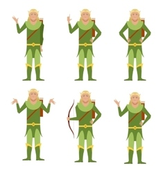 Set of Forest Fantasy Elves vector image vector image