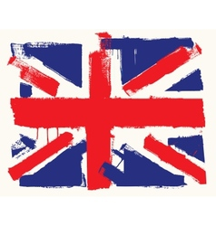 UK paint flag vector image vector image