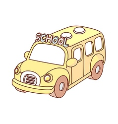 A school bus is parked vector image