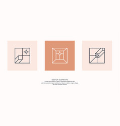 A set geometric emblems abstract compositions vector