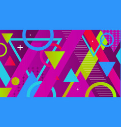 abstract colorful geometric shapes and patterns vector image