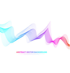 abstract colorful wave lines background geometric vector image