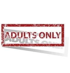ADULTS ONLY outlined stamp vector image