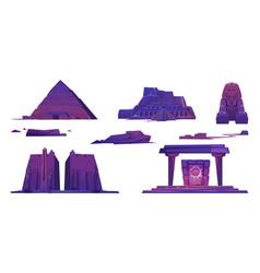 Ancient egypt pyramids pharaoh temples sphinx vector