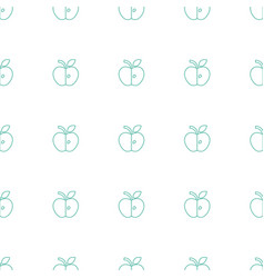 apple icon pattern seamless white background vector image