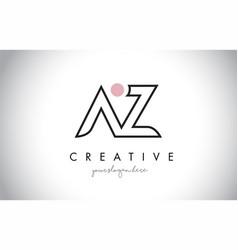 Az letter logo design with creative modern trendy vector