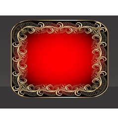 Background frame with vegetable golden pattern vector