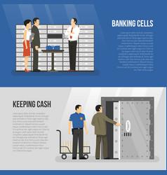 Bank banners set vector