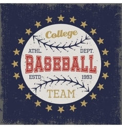 Baseball Colored Print vector image