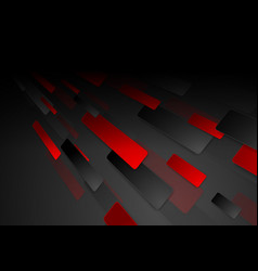 black and red hi-tech abstract background vector image
