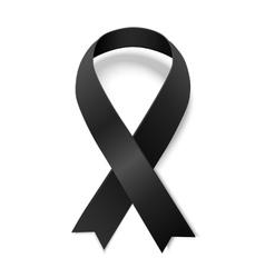 Black awareness ribbon vector