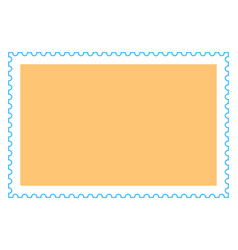 Blank rectangle postage stamp vector