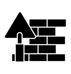 brick wall - diy icon black vector image