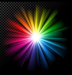 Bright multicolor rays vector