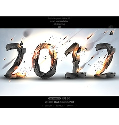 Burning 2012 background vector