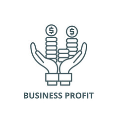 business profit line icon business profit vector image