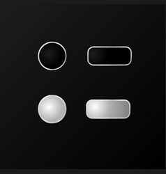 buttons for the phone a realistic model vector image