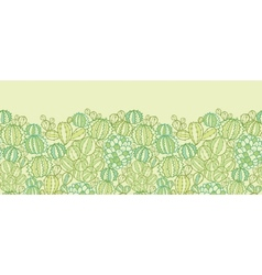 Cactus plants texture horizontal seamless pattern vector