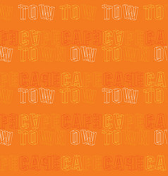 Cape town creative pattern vector