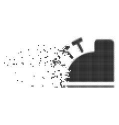 Cash register dispersed pixel icon vector