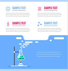chemistry research science infographic banner vector image