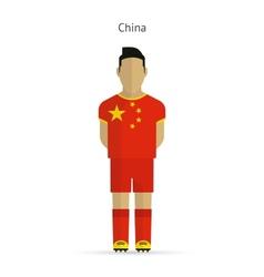 China football player Soccer uniform vector image