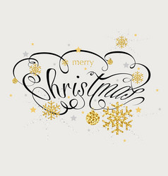 christmas calligraphic inscription vector image