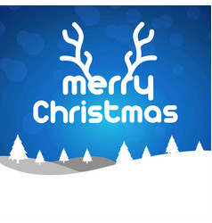 christmas card with blue background vector image
