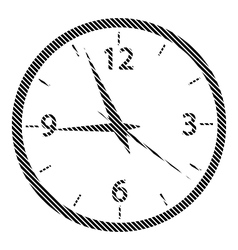 Clock sign on white vector