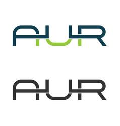 Creative letter aur logo icon vector