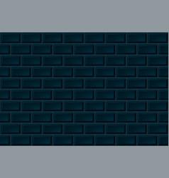 dark ceramic brick tile wall seamless pattern vector image