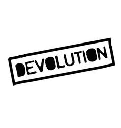 Devolution typographic stamp vector
