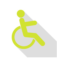 disabled sign pear icon with flat vector image