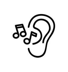 Ear hears music icon outline vector