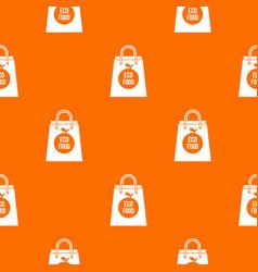 eco food bag pattern seamless vector image