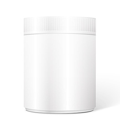 Empty white cylindrical box vector