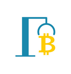 extraction bitcoin icon recovery of vector image