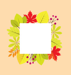 fall frame vector image