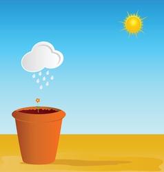 flowerpot part two vector image