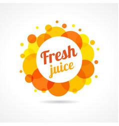 fresh juice logo concept vector image