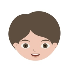 Front face boy with brown hair vector