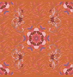 gentle summer floral background flowers on orange vector image