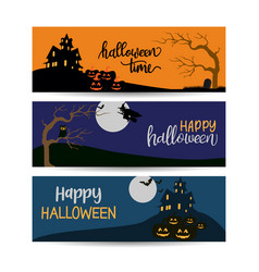 halloween banners template design vector image